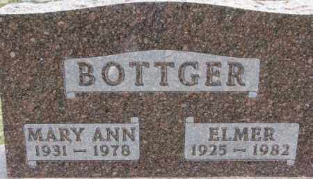 BOTTGER, ELMER - Dixon County, Nebraska | ELMER BOTTGER - Nebraska Gravestone Photos