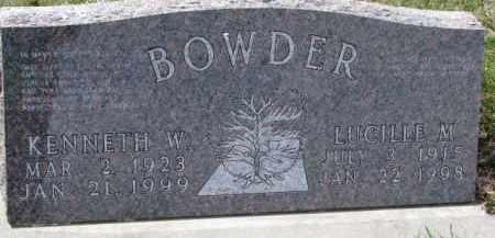 BOWDER, KENNETH W. - Dixon County, Nebraska | KENNETH W. BOWDER - Nebraska Gravestone Photos
