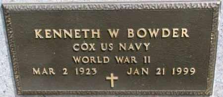 BOWDER, KENNETH W. (WW II MARKER) - Dixon County, Nebraska | KENNETH W. (WW II MARKER) BOWDER - Nebraska Gravestone Photos