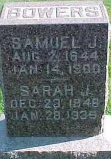 BOWERS, SAMUEL J. - Dixon County, Nebraska | SAMUEL J. BOWERS - Nebraska Gravestone Photos