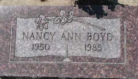 BOYD, NANCY ANN - Dixon County, Nebraska | NANCY ANN BOYD - Nebraska Gravestone Photos