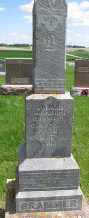 BRAMMER, JOHANN HEINRICH - Dixon County, Nebraska | JOHANN HEINRICH BRAMMER - Nebraska Gravestone Photos