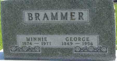 BRAMMER, MINNIE - Dixon County, Nebraska   MINNIE BRAMMER - Nebraska Gravestone Photos