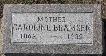 BRAMSEN, CAROLINE - Dixon County, Nebraska | CAROLINE BRAMSEN - Nebraska Gravestone Photos