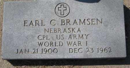 BRAMSEN, EARL C. - Dixon County, Nebraska   EARL C. BRAMSEN - Nebraska Gravestone Photos
