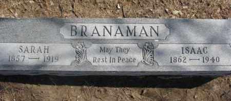 BRANAMAN, SARAH - Dixon County, Nebraska | SARAH BRANAMAN - Nebraska Gravestone Photos
