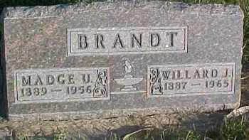 BRANDT, MADGE U. - Dixon County, Nebraska | MADGE U. BRANDT - Nebraska Gravestone Photos