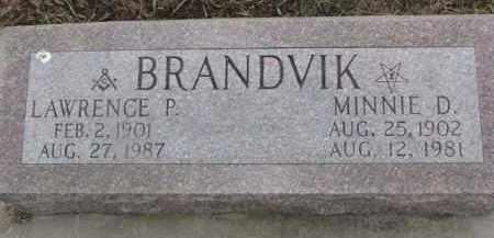 BRANDVIK, LAWRENCE P. - Dixon County, Nebraska | LAWRENCE P. BRANDVIK - Nebraska Gravestone Photos