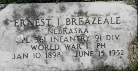 BREAZEALE, ERNEST I. - Dixon County, Nebraska | ERNEST I. BREAZEALE - Nebraska Gravestone Photos