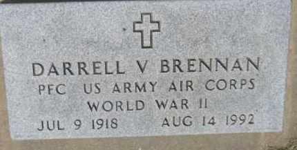 BRENNAN, DARRELL V. (WW II MARKER) - Dixon County, Nebraska | DARRELL V. (WW II MARKER) BRENNAN - Nebraska Gravestone Photos