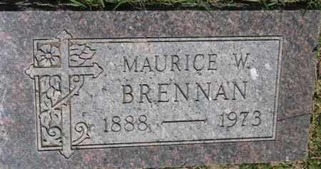 BRENNAN, MAURICE W. - Dixon County, Nebraska | MAURICE W. BRENNAN - Nebraska Gravestone Photos
