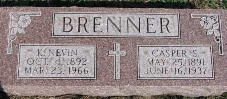BRENNER, K. NEVIN - Dixon County, Nebraska | K. NEVIN BRENNER - Nebraska Gravestone Photos