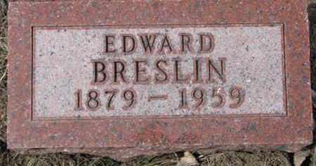 BRESLIN, EDWARD - Dixon County, Nebraska | EDWARD BRESLIN - Nebraska Gravestone Photos