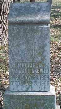 BREWER, MAGGIE A. - Dixon County, Nebraska | MAGGIE A. BREWER - Nebraska Gravestone Photos