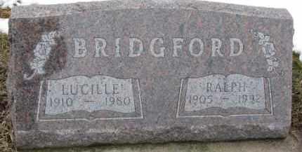 BRIDGFORD, LUCILLE - Dixon County, Nebraska | LUCILLE BRIDGFORD - Nebraska Gravestone Photos