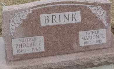 BRINK, MARION E. - Dixon County, Nebraska   MARION E. BRINK - Nebraska Gravestone Photos