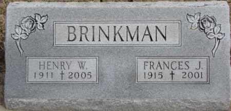 BRINKMAN, FRANCES J. - Dixon County, Nebraska | FRANCES J. BRINKMAN - Nebraska Gravestone Photos