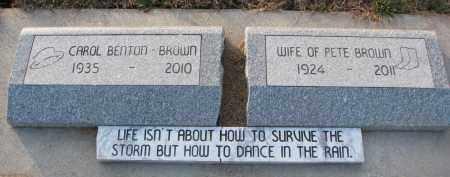 BROWN, CAROL - Dixon County, Nebraska   CAROL BROWN - Nebraska Gravestone Photos