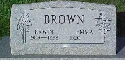 BROWN, ERWIN - Dixon County, Nebraska   ERWIN BROWN - Nebraska Gravestone Photos