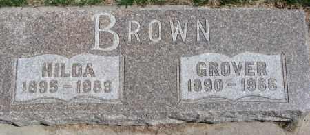 BROWN, GROVER - Dixon County, Nebraska | GROVER BROWN - Nebraska Gravestone Photos