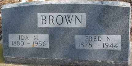 BROWN, FRED N. - Dixon County, Nebraska | FRED N. BROWN - Nebraska Gravestone Photos