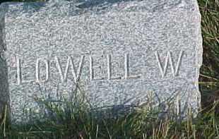 BROWN, LOWELL W. - Dixon County, Nebraska | LOWELL W. BROWN - Nebraska Gravestone Photos