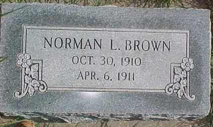 BROWN, NORMAN L. - Dixon County, Nebraska | NORMAN L. BROWN - Nebraska Gravestone Photos