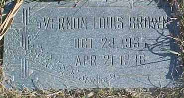 BROWN, VERNON LOUIS - Dixon County, Nebraska   VERNON LOUIS BROWN - Nebraska Gravestone Photos