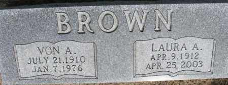 BROWN, VON A. - Dixon County, Nebraska | VON A. BROWN - Nebraska Gravestone Photos