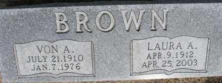 BROWN, LAURA A. - Dixon County, Nebraska | LAURA A. BROWN - Nebraska Gravestone Photos