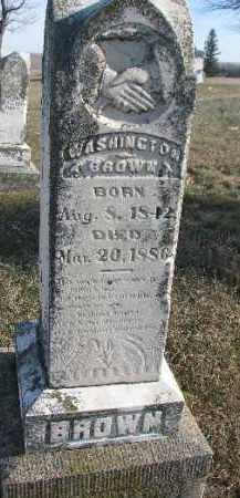BROWN, WASHINGTON - Dixon County, Nebraska | WASHINGTON BROWN - Nebraska Gravestone Photos