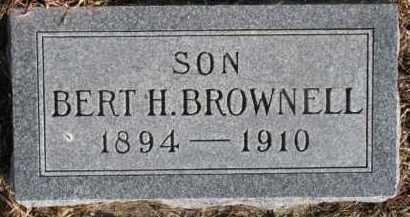 BROWNELL, BERT H. - Dixon County, Nebraska | BERT H. BROWNELL - Nebraska Gravestone Photos
