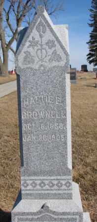 BROWNELL, HATTIE E. - Dixon County, Nebraska | HATTIE E. BROWNELL - Nebraska Gravestone Photos