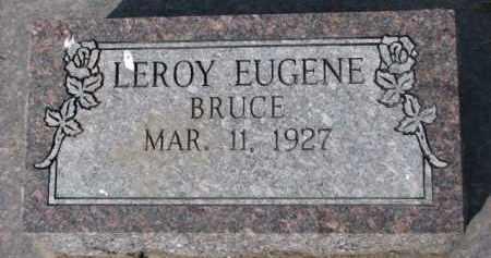 BRUCE, LEROY EUGENE - Dixon County, Nebraska   LEROY EUGENE BRUCE - Nebraska Gravestone Photos