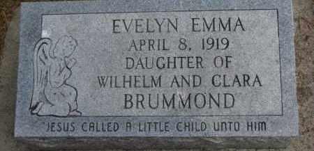 BRUMMOND, EVELYN EMMA - Dixon County, Nebraska | EVELYN EMMA BRUMMOND - Nebraska Gravestone Photos