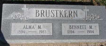 BRUSTKERN, BENNETT M. - Dixon County, Nebraska | BENNETT M. BRUSTKERN - Nebraska Gravestone Photos