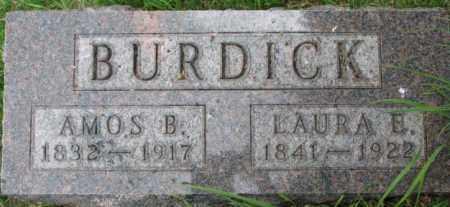 BURDICK, AMOS B. - Dixon County, Nebraska | AMOS B. BURDICK - Nebraska Gravestone Photos