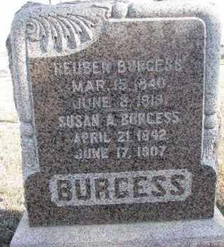 BURGESS, SUSAN A. - Dixon County, Nebraska | SUSAN A. BURGESS - Nebraska Gravestone Photos