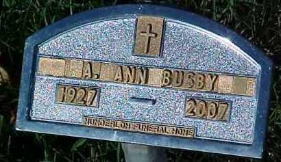 BUSBY, A. ANN - Dixon County, Nebraska | A. ANN BUSBY - Nebraska Gravestone Photos