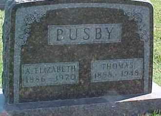 BUSBY, THOMAS - Dixon County, Nebraska   THOMAS BUSBY - Nebraska Gravestone Photos