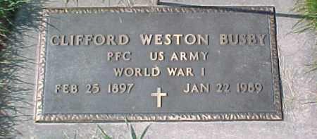 BUSBY, CLIFFORD W. (WW 1 MARKER) - Dixon County, Nebraska | CLIFFORD W. (WW 1 MARKER) BUSBY - Nebraska Gravestone Photos