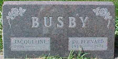 BUSBY, DR., BERNARD - Dixon County, Nebraska   BERNARD BUSBY, DR. - Nebraska Gravestone Photos