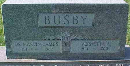 BUSBY, MARVIN JAMES, DR. - Dixon County, Nebraska | MARVIN JAMES, DR. BUSBY - Nebraska Gravestone Photos