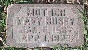 BUSBY, MARY - Dixon County, Nebraska | MARY BUSBY - Nebraska Gravestone Photos