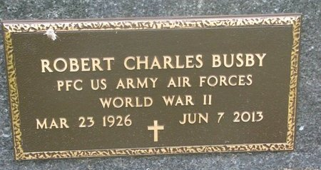 BUSBY, ROBERT CHARLES (MILITARY) - Dixon County, Nebraska | ROBERT CHARLES (MILITARY) BUSBY - Nebraska Gravestone Photos
