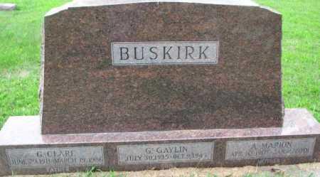 BUSKIRK, A. MARION - Dixon County, Nebraska | A. MARION BUSKIRK - Nebraska Gravestone Photos