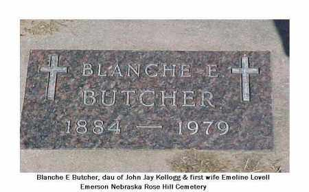 BUTCHER, BLANCHE E. - Dixon County, Nebraska | BLANCHE E. BUTCHER - Nebraska Gravestone Photos