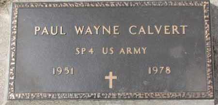 CALVERT, PAUL WAYNE - Dixon County, Nebraska   PAUL WAYNE CALVERT - Nebraska Gravestone Photos