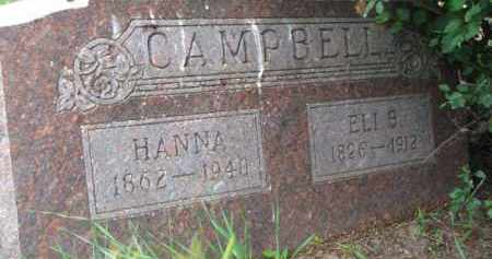 CAMPBELL, ELI B. - Dixon County, Nebraska | ELI B. CAMPBELL - Nebraska Gravestone Photos