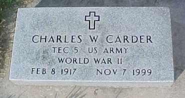 CARDER, CHARLES W. (WW II MARKER) - Dixon County, Nebraska | CHARLES W. (WW II MARKER) CARDER - Nebraska Gravestone Photos